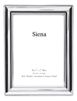 Tizo Double Border Bead Silver-plated Picture Frame 4 x 6 Inch, MPN:  22522-46