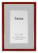 Tizo Narrow Enamel Red Silver-plated Picture Frame 4 x 6 Inch, MPN:  5120RED-46