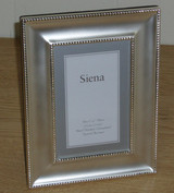 Tizo Classic Wide Double Bead Brushed Silver-plated Picture Frame 8 x 10 Inch, MPN:  8003-80
