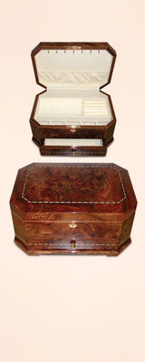 Tizo Kingdom Octagonal with drawer Wooden Jewelry Box, MPN:  FS0181BX