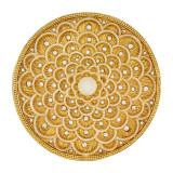 Tizo Golden-White Enamel Blooming Coaster, MPN:  RS406WHCO