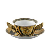 Versace Vanity Cream Soup Cup and Saucer 6 3/4 Inch 10 oz., MPN: 19300-403608-10420, UPC: 790955854093