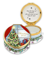 Halcyon Days 2018 Christmas Enamel Box, MPN: ENCH180101G