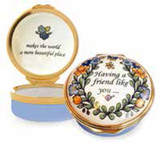 Halcyon Days Having a friend like you Enamel Box, MPN: ENHAF1201G
