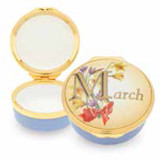 Halcyon Days March Enamel Box, MPN: ENMMA2701G