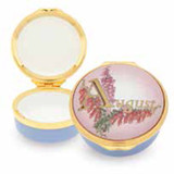 Halcyon Days August Enamel Box, MPN: ENMAU1301G