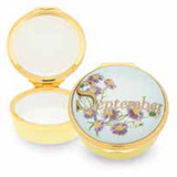 Halcyon Days September Enamel Box, MPN: ENMSE0801G