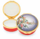 Halcyon Days December Enamel Box, MPN: ENMDE0601G