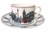 Halcyon Days London Icons Teacup & Saucer, MPN: BCLON03TSN