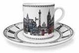 Halcyon Days London Icons Coffee Cup & Saucer, MPN: BCLON03CSN