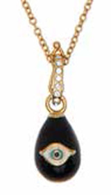 Halcyon Days Evil Eye Egg Midnight Blue Gold Pendant, MPN: PDEVE11EGG
