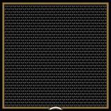 Halcyon Days Bees Trellis Black 90x90 100% Silk Scarf, MPN: SABTR02SS90