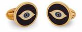 Halcyon Days Evil Eye Navy Gold Cufflinks, MPN: CLEVE11RDG