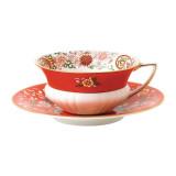 Wedgwood Wonderlust Wonderlust Teacup & Saucer Set Crimson Orient, MPN: 40024021, UPC: 701587315425