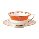 Wedgwood Wonderlust Wonderlust Teacup & Saucer Set Peony Diamond, MPN: 40024019, UPC: 701587315401