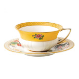Wedgwood Wonderlust Wonderlust Teacup & Saucer Set Primrose, MPN: 40024020, UPC: 701587315418