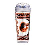 MLB Baltimore Orioles 24 oz Double Wall Acrylic Tumbler, MPN: GC6576, UPC: 737538857119