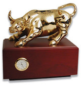 Wall Street Bull (Medium) with clock MPN: GL2958