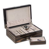 Ebony Finish Wood 4-Watch and Jewelry Box Engravable, MPN: GM18302, UPC: 797140566779