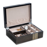Ash Finish Wood 4-Watch and Jewelry Box, MPN: GM18305, UPC: 797140576778