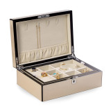 Ivory Finish Wood with Removeable Tray Jewelry Box, MPN: GM18319, UPC: 797140575993
