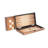 Brown Inlaid Wood Backgammon, Chess, & Checkers Set, MPN: GM18373, UPC: 797140405542