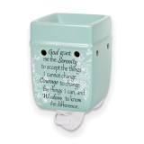 Serenity Prayer Nightlight Tart Warmer Elanze Designs, MPN: GM18450, UPC: 633303845919