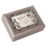 Aunt Music Box Jeweled Woodgrain Resin, MPN: GM18581, UPC: 633303847203