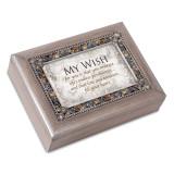 My Wish Music Box Jeweled Woodgrain Resin, MPN: GM18586, UPC: 633303847258