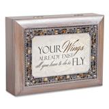 Your Wings Music Box Jeweled Woodgrain Resin, MPN: GM18587, UPC: 633303847265