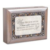 Mom Music Box Jeweled Woodgrain Resin, MPN: GM18588, UPC: 633303847272