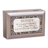 Mother Music Box Jeweled Woodgrain Resin, MPN: GM18595, UPC: 633303847340