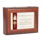 Confirmation Personalizable Music Box Woodgrain Resin, MPN: GM18624, UPC: 633303845506