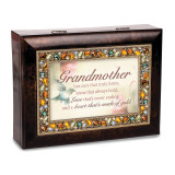 Grandmother Jeweled Music Box Woodgrain Resin, MPN: GM18629, UPC: 633303845544