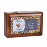 Forever In Hearts Jeweled Locket Music Box Woodgrain Resin, MPN: GM18631, UPC: 633303845568