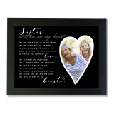 Written on my Heart 5x7 Sister Black Picture Frame MPN: GM18804