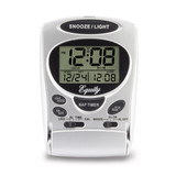 LCD Digital Fold-up Travel Alarm Clock, MPN: GM19005, UPC: 47404313008