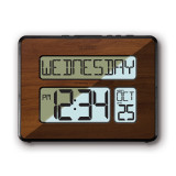 Atomic Digital Wall Clock with White Backlight, MPN: GM19006, UPC: 757456085142