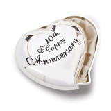 10th Anniversary Heart Keepsake Box Silver-tone Engravable, MPN: GM19112, UPC: 89945575385
