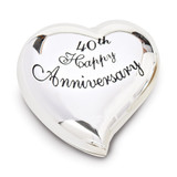 40th Anniversary Heart Keepsake Box Silver-tone, MPN: GM19114, UPC: 89945575408