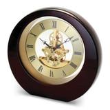 Mahogany Finish Interactive Gear Clock Engravable, MPN: GM19175, UPC: 633944006236