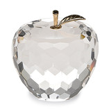 Badash Crystal Faceted Apple Paperweight with Golden Stem MPN: GM19724