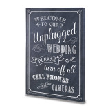 Lillian Rose Chalkboard Canvas Unplugged Sign, MPN: GM20483, UPC: 710309434054