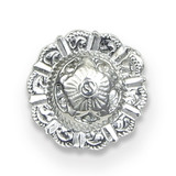 Pewter Round Concho Magnetic Scarf Pin MPN: GM20618