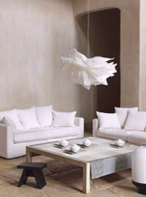 Le Jacquard Francais Fleurs De Kyoto Mist Coated Fabric Yardage 61 Inch MPN: 22090 EAN: 3660269220907