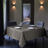 Le Jacquard Francais Anneaux Taupe Tablecloth Square 67 X 67 Inch MPN: 22539 EAN: 3660269225391