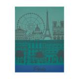 Le Jacquard Francais Paris Panorama Garden Tea Towel 24 X 31 Inch MPN: 22745 EAN: 3660269227456