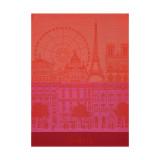 Le Jacquard Francais Paris Panorama Red Kiss Tea Towel 24 X 31 Inch MPN: 22746 EAN: 3660269227463