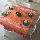 Le Jacquard Francais Jardin De Paradis Apricot Coated Tablecloth 69 X 69 Inch MPN: 22770 EAN: 3660269227708