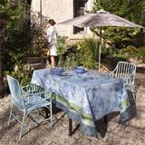 Le Jacquard Francais Jardin De Paradis Light Blue Coated Tablecloth 69 X 126 Inch MPN: 22775 EAN: 3660269227753